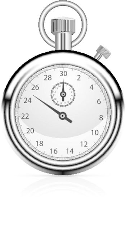 stopwatch retro mechanic chromed vector illustration. Front view.