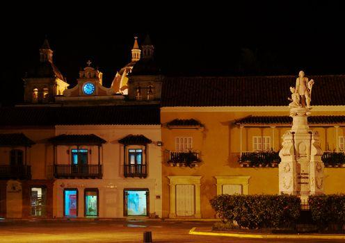 Editorial: Plaza de la Aduana in Cartagena, Colombia