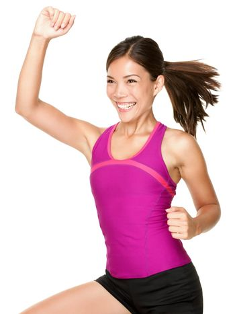 Aerobics dance fitness woman
