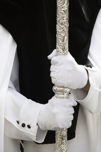 Detail from a Semana Santa (Holy Week) procession  in Andalusia, Spain.