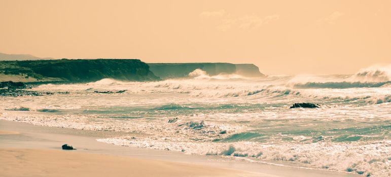 Rough coastline at Fuerteventura