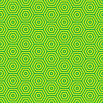Green and yellow retro seventies inspired wallpaper pattern