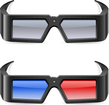 3d cinema glasses. Illustration on white background