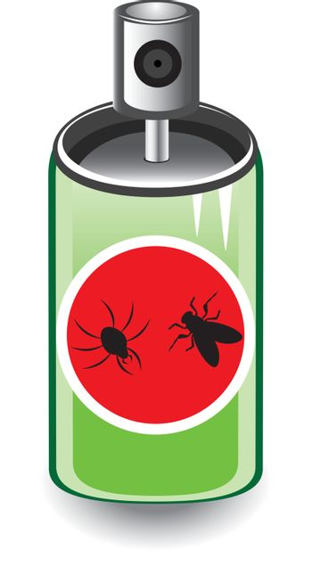 Insect spray. Illustration on white background