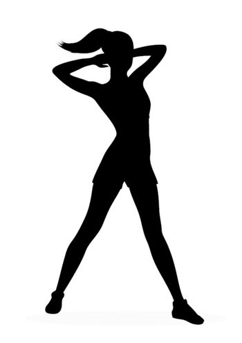 Fitness woman silhouette. Vector illustration