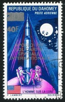 DAHOMEY - CIRCA 1969: stamp printed by Dahomey, shows  Astronauts, circa 1969.