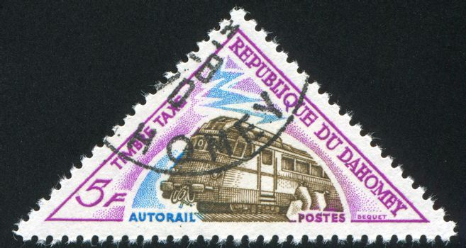 DAHOMEY - CIRCA 1963: stamp printed by Dahomey, shows  Astronauts, circa 1963.