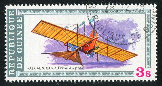 GUINEA - CIRCA 1979:   stamp printed by Guinea,  shows plane, circa 1979.