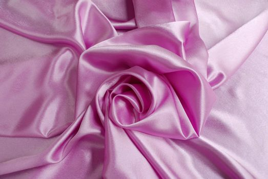 Pink satin with a folds