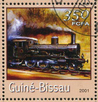 GUINEA-BISSAU - CIRCA 2001: stamp printed by Guinea - Bissau, shows locomotive, circa 2001.