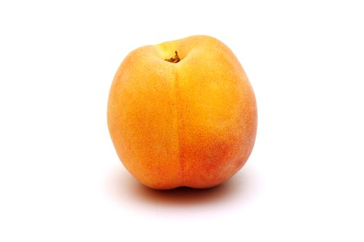 Foto of peach placed on white background