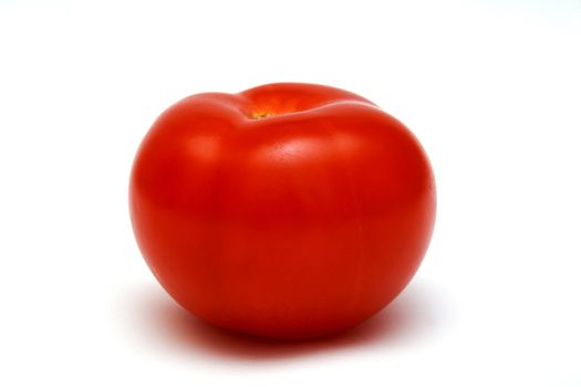Foto of tomato placed on white background