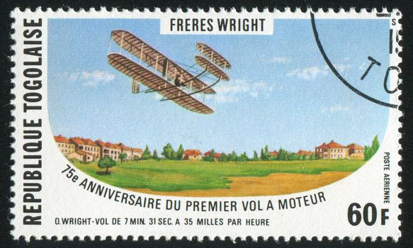 TOGO - CIRCA 1978: stamp printed by Togo, shows aeroplane, circa 1978.