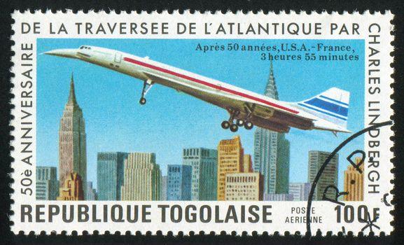 TOGO - CIRCA 1977: stamp printed by Togo, shows plane, circa 1977.