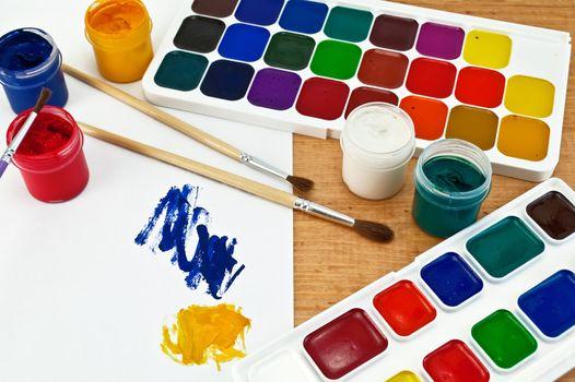 Paint and gouache