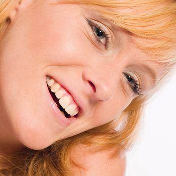 Smiling reddish girl