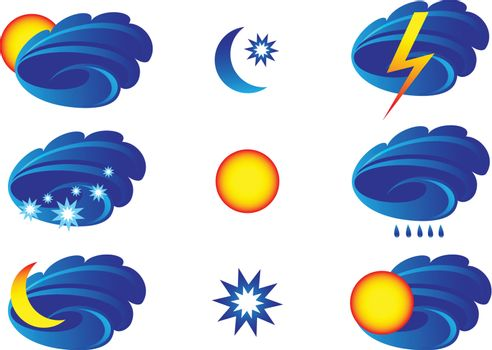 Weather Icons for day and night forecasting.