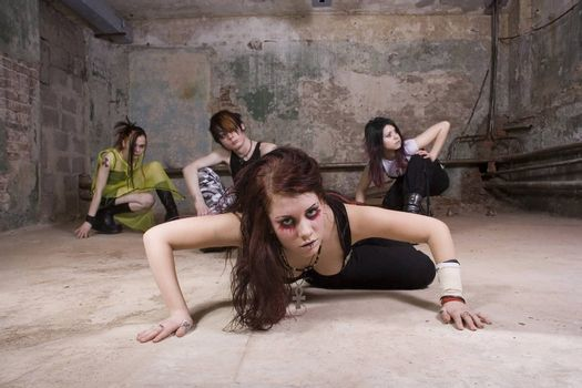 Youth of Goth in the thrown cellar