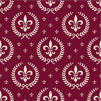 Red royal seamless textile pattern