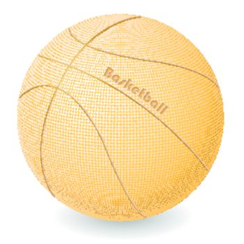 abstract illustration, basketball ball on withe background