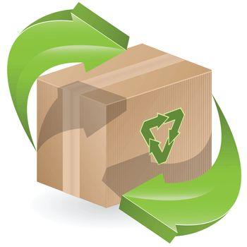 illustration, three green arrows on close box