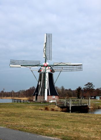 windmill on the lakeshore