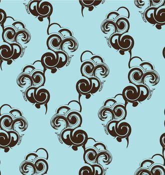 seamless texture dark blue pattern on blue background