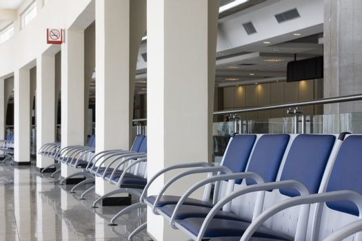 Lounge of a modern airport