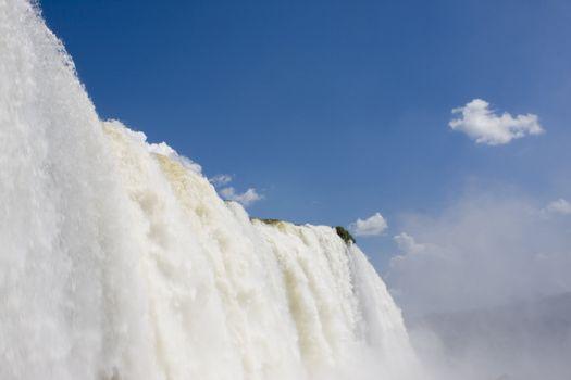 Detail of the Iguazu Falls in Brazil