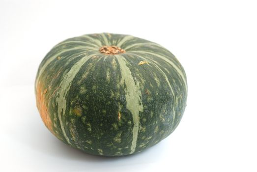 Green, Japanese pumpkin on white background