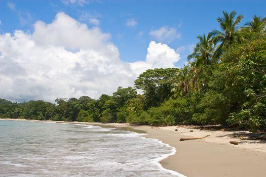 View over beach at Manuel Antonio National Park, Costa Rica.