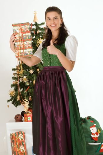 Bavarian girl was surprised by your Christmas