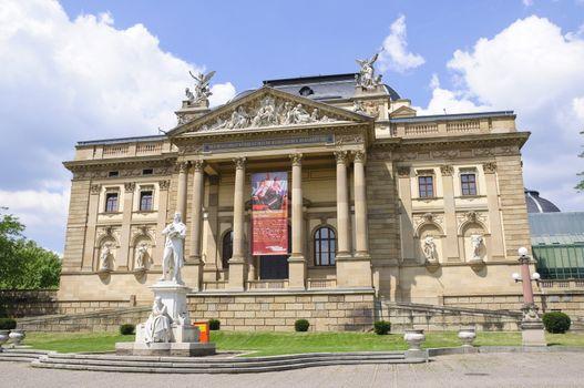 Hessian State Theater in Wiesbaden, Germany
