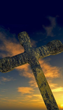 Digital illustration of a cross.