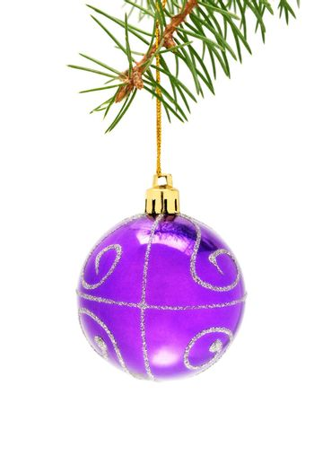 Christmas-tree decorations isolated on a white background