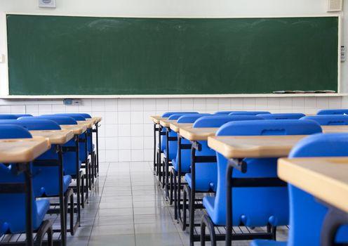 Empty  classroom of school