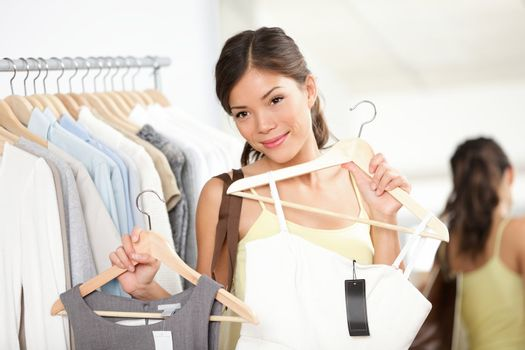 Woman shopping buying clothes