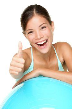 Fitness woman pilates