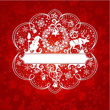 ornate christmas card
