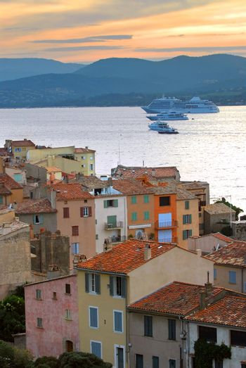 Cruise ships at St.Tropez