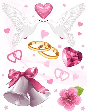 Wedding art for invitations and announcements