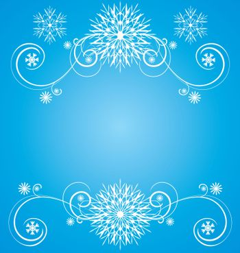 christmas vintage snowflake card illustration