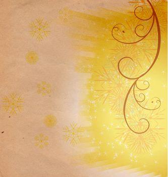 christmas vintage snowflake card illustration