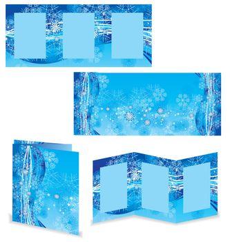 christmas booklet or folder vector image