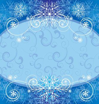 christmas vintage snowflake frame illustration
