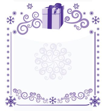 christmas frame vector  illustration