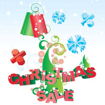 christmas tree vector sale image