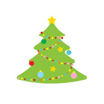 vector picture of  christmas tree