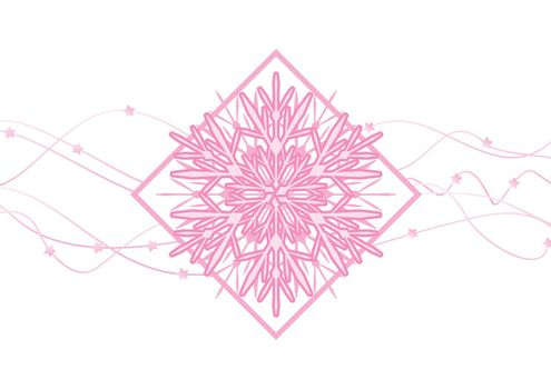 snowflakes abstract vector pink backdrop