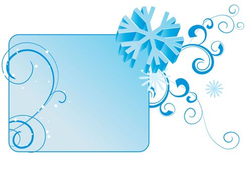 snowflakes abstract vector blue backdrop